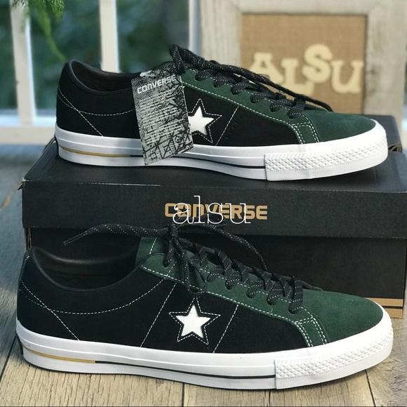 Converse Star Pro Suede OX Deep Emerald Black M NWT